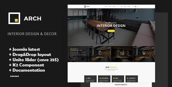 Arch - Interior Design, Architecture and Building Business Joomla Template