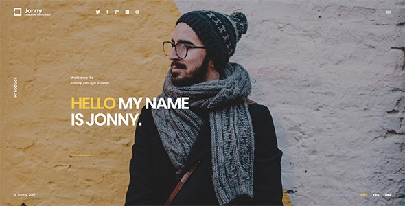 Jonny - One Page Joomla! Theme