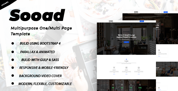 Sooad - Multipurpose One/Multi Page Template