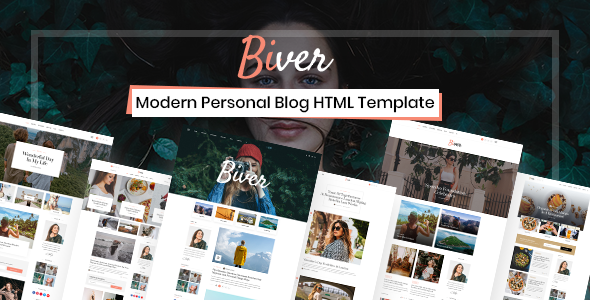 Biver - Morden Personal Blog HTML5 Template